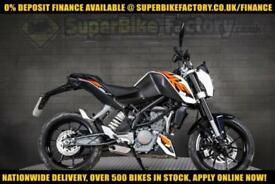 2016 65 KTM DUKE 125CC 0% DEPOSIT FINANCE AVAILABLE