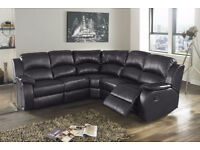 New High Quality Comfortable Leather Recliner CORNER Unit in Cream Black Brown colors
