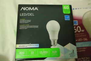 Noma 60w replacement 10w LED bulb DAYLIGHT, DIMMABLE