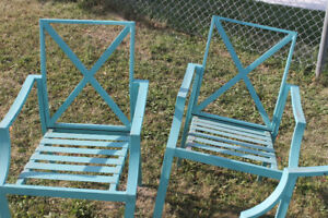 3 Metal Patio Chairs - $10 for all 3
