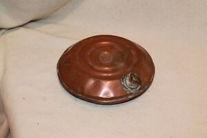 Antique copper bed warmer