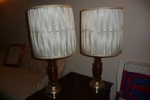 Wooden Table Lamps with Brass Bases Kingston Kingston Area image 1