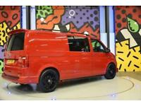 2017 VW TRANSPORTER T6 T30 LWB 2.0TDI 150PS HIGHLINE KOMBI LV SPORTLINE PK RED