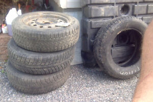 All Weather winter tires and rims P185/65/R15