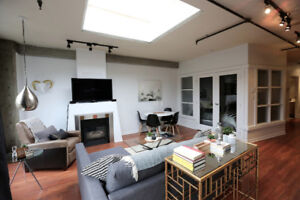 Renovated Gastown Pad, with Designer Style and Private Rooftop D
