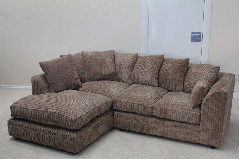 Corduroy corner sofa kudos corner portobello cord black for Grey corduroy sofa