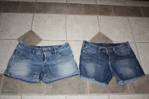 2 Silver Brand Jean Shorts