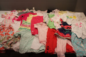 Assortment of Girls Clothing (size 0-6 months)
