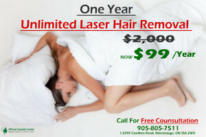One Year of Unlimited Laser Hair Removal (Up to 98% Off)