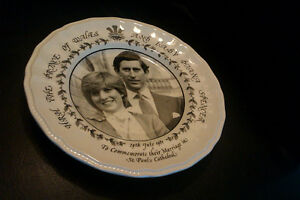 Princess Diana Vintage commemorative wedding plate