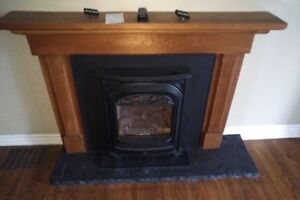 Gas Insert Fireplace  & Mantle - President Portrait, 530-ILN-VLR
