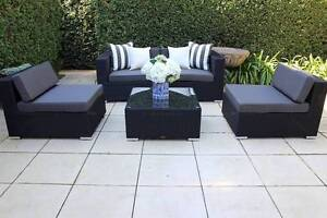 WICKER LOUNGE SETTING,5 CONFIGURATIONS,B/NEW, 2 YR WTY Modbury Tea Tree Gully Area Preview