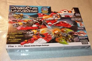 MEGA BLOKS DRAGONS UNIVERSE 2 DRAGONS AND SHIP!