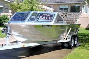 20 ' Jetboat twin 200hp Sportjets