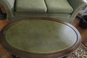 Coffee Table Quality Leather Top