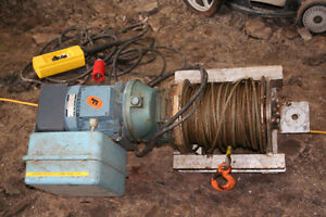 Electric winch with gear box