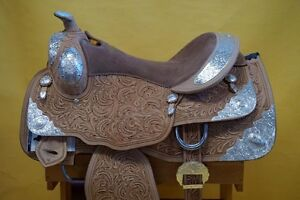 "16"" Western Show Saddle+Tack Light Colour~DEAL$799~New+Warranty London Ontario image 2"