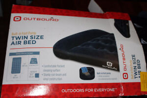 Outbound Twin Mattress for Camping (built in pump)