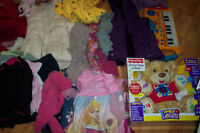 baby girls and boys clothes, toys and shoes