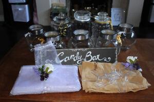 Candy jar set (wedding)
