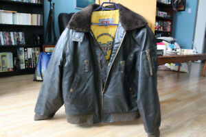 Blouson cuir Aviateur - Leather  Bomber Flying Jacket
