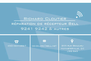 REPARATION RECEPTEUR PVR BELL 9241 9242 RECEIVER REPAIR SERVICE