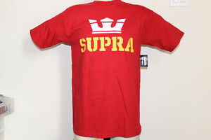 Supra Above T-shirt in Cardinal Red, size Mens Small