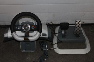 X Box 360 Force Feedback Steering Wheel by Microsoft