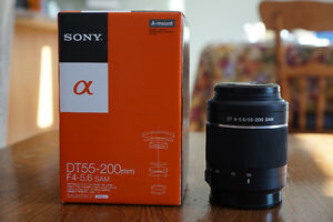 Sony Alpha a-mount lenses (35/f1.8 & 55-200/f4.5-5.6) Kitchener / Waterloo Kitchener Area image 2