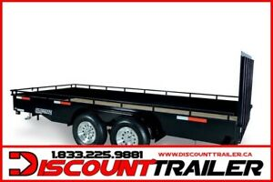 2019 7X14 Tandem Landscape Steel High Side Trailer