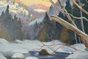 LISTED ARTIST TOM HALL OIL ON BOARD WINTER PAINTING EXCELLENT Gatineau Ottawa / Gatineau Area image 6