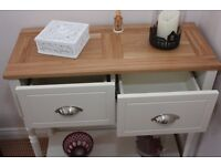 Oak top lounge table house living room furniture drawer chest set Loughview Joinery LTD