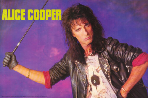POSTER : MUSIC : ALICE COOPER - 1989 LEATHER JACKET - FREE SHIP #ALP001   LW22 R