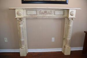 Cream Fireplace Mantle