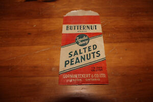 Old Butternut Brand Salted Peanuts Bag - Gorman Eckert & Co. London Ontario image 3