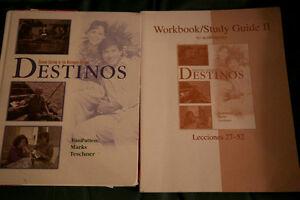 Destino Text book with workbook/studyguide II