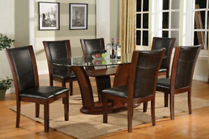 Secctional w ottoman, dinner table 6 chairs