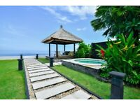 Beachfront villa for sale in Bali, with holiday rental license