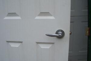 THREE SOLID WOOD DOORS TWO INTERIOR ONE FANCY SCREEN DOOR London Ontario image 2