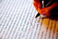 Offre mes services:  Corrections, textes, travaux scolaires, CV.