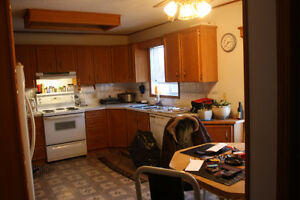 950 Sq.Ft Home WITH 3 bay,heated Garage with attached shop .