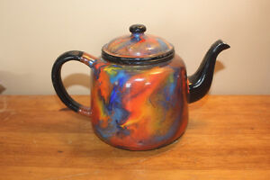 Old Antique End of Day Enamelware Tea Pot London Ontario image 3