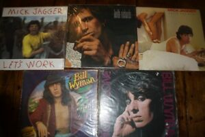 Rolling Stones solo album LP collection