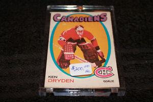 Ken Dryden Rookie Card 1971-72 OPC #45 at JJ Sports