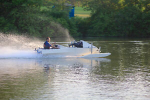 Custom Built Hydroplane, Tunnel Hull pickle fork speed boat