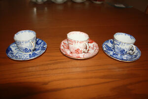 Vintage Royal Crown Derby cups and saucers.