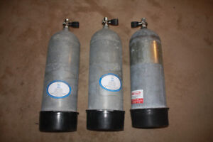 Scuba Tanks, 120 & 130 cu ft steel tanks,