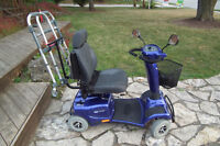 4 WHEEL INVACARE AURGIA 10 SCOOTER MOBILITY SCOTTER