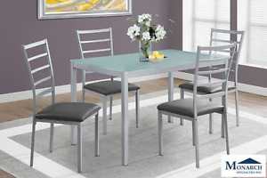 Brand NEW Silver Metal Dinette Set ! Call 905-688-3939!
