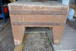 VINTAGE BUTCHER BLOCK TABLE/REDUCED PRICE